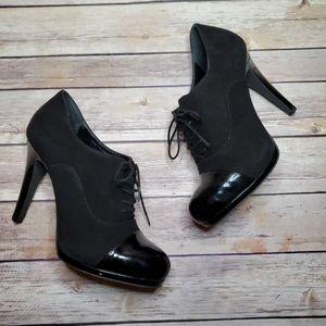 Franco Sarto Leera Black Suede & leather Pumps